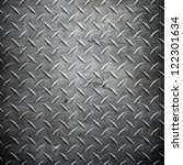 metal  diamond plate   ... | Shutterstock . vector #122301634