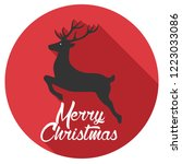 vector christmas deer icon. new ... | Shutterstock .eps vector #1223033086