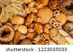 fresh fragrant bread on the...   Shutterstock . vector #1223035033