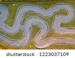 aerial view of the go kart... | Shutterstock . vector #1223037109