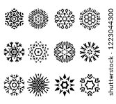 snowflakes icon collection.... | Shutterstock .eps vector #1223044300