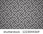 the geometric pattern with... | Shutterstock .eps vector #1223044369