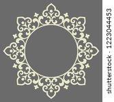 decorative frame elegant vector ... | Shutterstock .eps vector #1223044453
