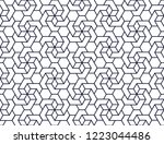 the geometric pattern with... | Shutterstock .eps vector #1223044486