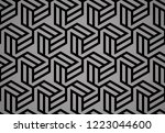 abstract geometric pattern with ... | Shutterstock .eps vector #1223044600