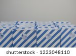 white and blue diagnose gift... | Shutterstock . vector #1223048110