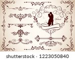 calligraphy swirls  swashes ... | Shutterstock .eps vector #1223050840
