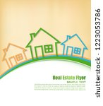 real estate agent flyer. vector ... | Shutterstock .eps vector #1223053786