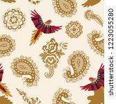 vector seamless pattern with... | Shutterstock .eps vector #1223055280