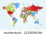world map vector | Shutterstock .eps vector #1223056246