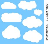 white clouds collection set on... | Shutterstock .eps vector #1223057809