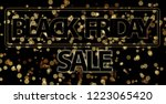 black friday sale 3d... | Shutterstock . vector #1223065420