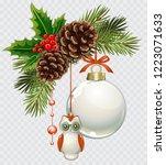 vector christmas fir tree with...   Shutterstock .eps vector #1223071633
