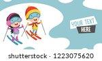 vector illustration of children ... | Shutterstock .eps vector #1223075620