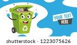 vector illustration of trash... | Shutterstock .eps vector #1223075626