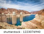 classic view of famous hoover... | Shutterstock . vector #1223076940