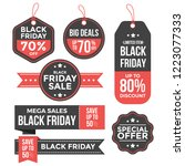 black friday labels set... | Shutterstock .eps vector #1223077333