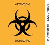 biohazard. symbol of biological ...   Shutterstock .eps vector #1223078806
