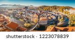 aerial view of the historic... | Shutterstock . vector #1223078839