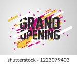 grand opening  beautiful... | Shutterstock .eps vector #1223079403