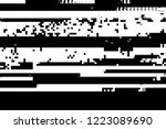 grunge glitched black and white ...   Shutterstock .eps vector #1223089690