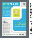 stylish flyer or brochure... | Shutterstock .eps vector #1223100919