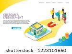 customer engagement landing... | Shutterstock .eps vector #1223101660