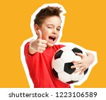 magazine style collage of sport ... | Shutterstock . vector #1223106589