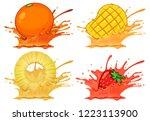 set of splash fruit juice...   Shutterstock .eps vector #1223113900