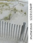 east coast storm fence to hold...   Shutterstock . vector #1223115649