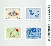 landscape ornamental stamps | Shutterstock .eps vector #122312158