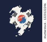 south korea flag grunge style.... | Shutterstock .eps vector #1223122246