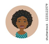 cute afro american crying woman ...   Shutterstock .eps vector #1223122579
