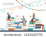 book festival poster with... | Shutterstock .eps vector #1223132770