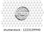 turbulence grey emblem. vintage ... | Shutterstock .eps vector #1223139940