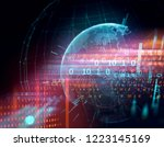 3d rendering of  earth on hi... | Shutterstock . vector #1223145169