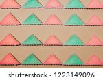 lines of triangular jelly candy ... | Shutterstock . vector #1223149096