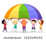 illustration of stickman kids... | Shutterstock .eps vector #1223149153