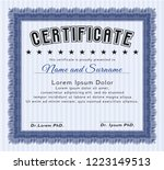 blue sample diploma. with...   Shutterstock .eps vector #1223149513