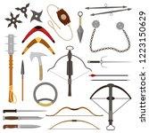 throwing weapon vector crossbow ... | Shutterstock .eps vector #1223150629