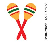 pair of maracas image. vector... | Shutterstock .eps vector #1223154979