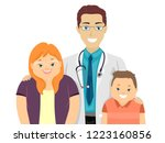 illustration of a doctor with a ... | Shutterstock .eps vector #1223160856