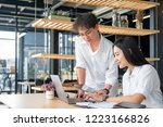 businesspeople working and... | Shutterstock . vector #1223166826