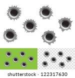 bullet holes   Shutterstock .eps vector #122317630