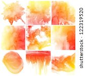 set of colorful abstract water...   Shutterstock . vector #122319520