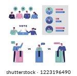 citizens debating candidates... | Shutterstock .eps vector #1223196490
