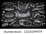 set of drawings breads and... | Shutterstock .eps vector #1223199979