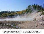 view of sulfur fumes coming out ...   Shutterstock . vector #1223200450