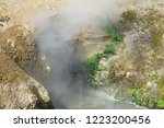 view of sulfur fumes coming out ...   Shutterstock . vector #1223200456