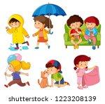 Stock vector set of children character illustration 1223208139